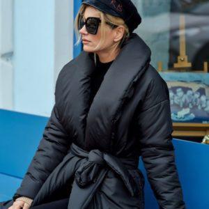 Женское пальто на запах купить недорого
