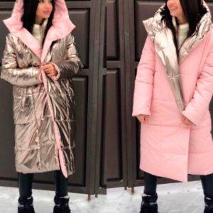 Купити в інтернет-магазині жіноче двостороннє пальто дешево