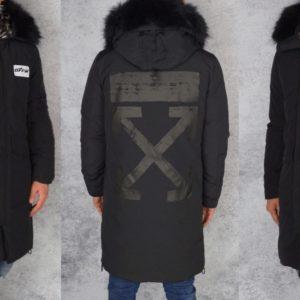 Приобрести мужское зимнее пальто на синтепоне и меху больших размеров черного цвета недорого