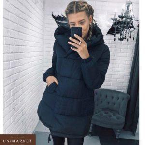 Заказать женскую черную куртку матовую на синтепоне недорого