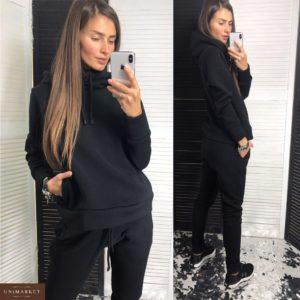 Купить в интернет-магазине черный спортивный костюм с капюшоном оптом Украина