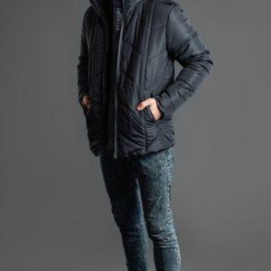 Купить мужскую куртку moncler черную на зиму дешево