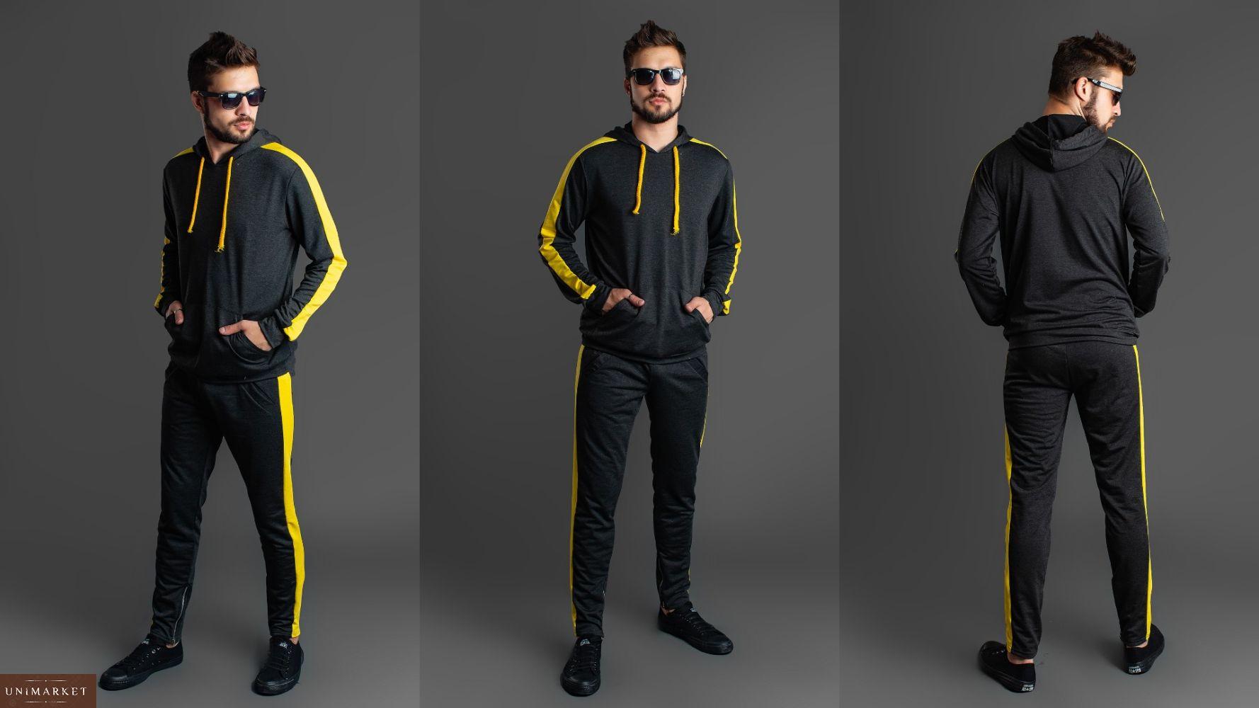 880c2b081b8d7 Заказать графитовый костюм мужской спортивный с лампасами в интернете. Спортивный  костюм с лампасами цвета хаки ...