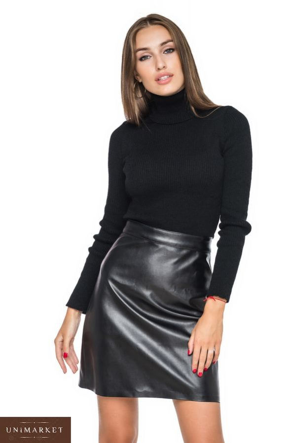 Приобрести в магазине женский гольф oversize черного цвета недорого