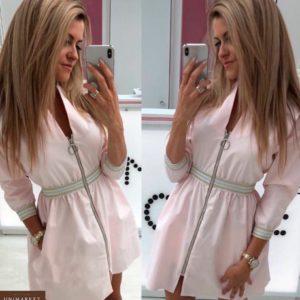 Приобрести женское платье на молнии цвета пудры недорого