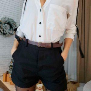 Приобрести женские шерстяные шортики коричневого цвета дешево