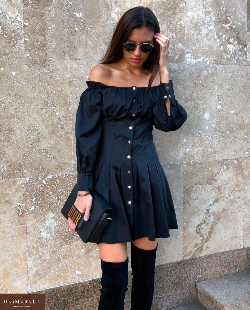 Замовити жіноче плаття на кнопках чорного кольору великих розмірів дешево ae9b4f2090832