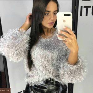 Приобрести женский шикарный свитер травку белого цвета недорого
