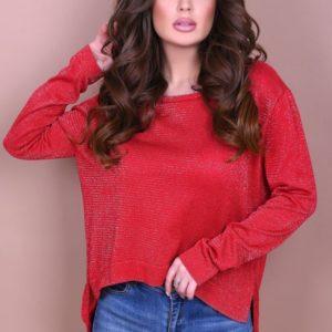 Купить в интернет-магазине женский теплый джемпер красного цвета недорого