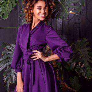 Купить женское шелковое платье дешево малинового цвета в подарок