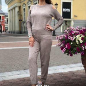 Заказать серый женский прогулочный костюм оптом Украина