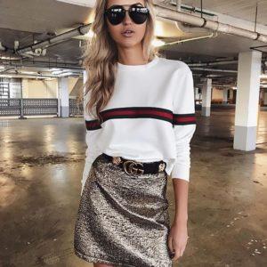 Приобрести женскую стильную кофту белого цвета дешево