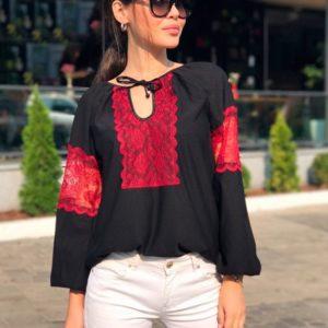 Приобрести блузку женскую с кружевными вставками дешево
