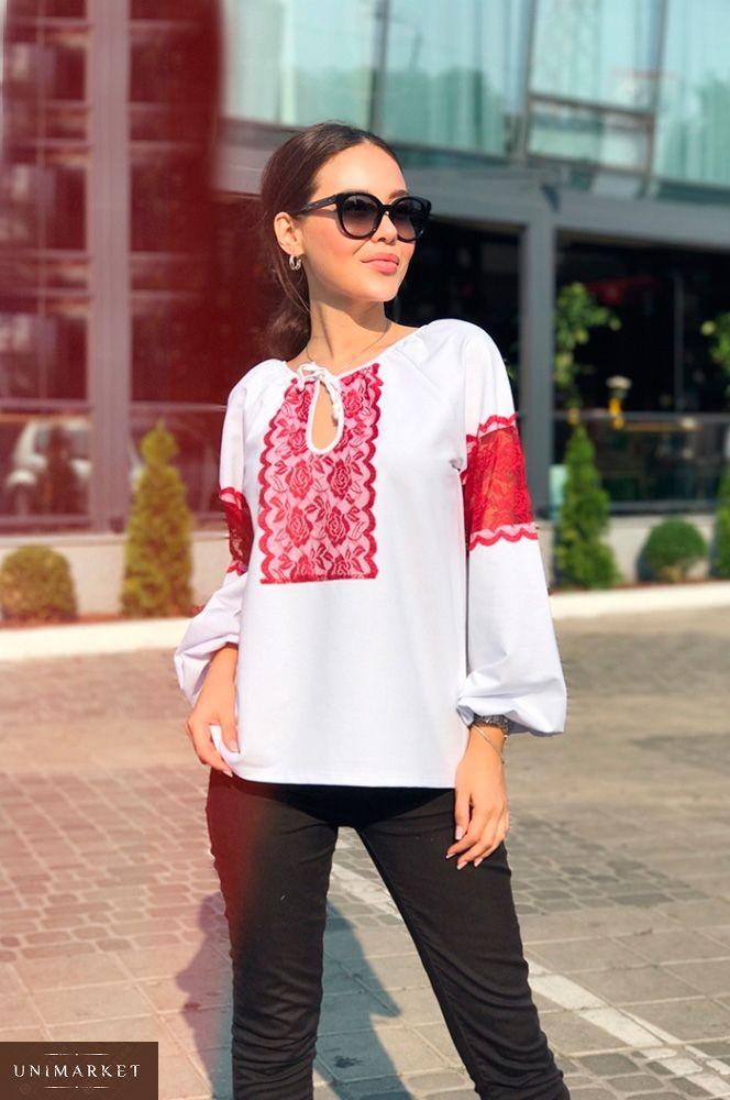 bcf2b15660a Женская Блузка с кружевными вставками купить в онлайн магазине ...