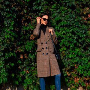 Купить женское пальто прямого кроя с поясом классическое из шерсти и кашемира дешево