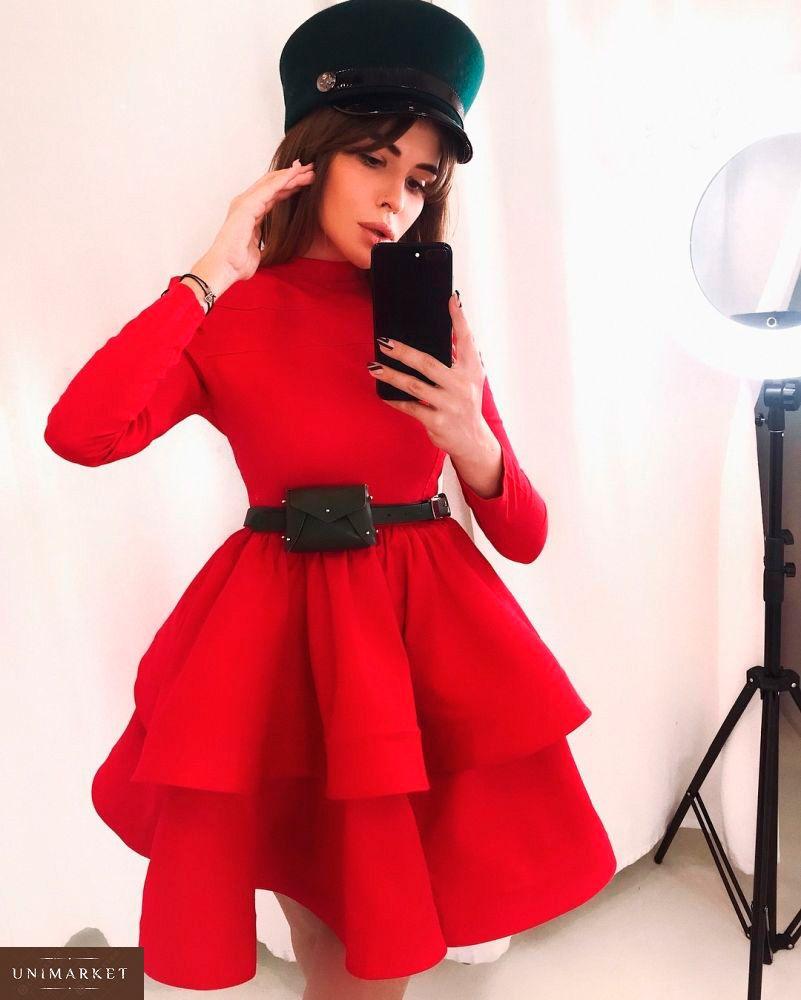 2f6afaeee17786 Купити недорого жіноче пишну сукню спідницю на регіліне червоного кольору