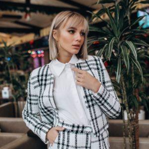 Заказать женский твидовый костюм на шелковой подкладке дешево Украина
