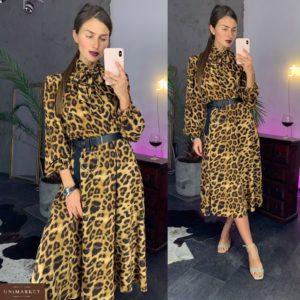 Заказать женское платье миди с леопардовым принтом недорого в подарок