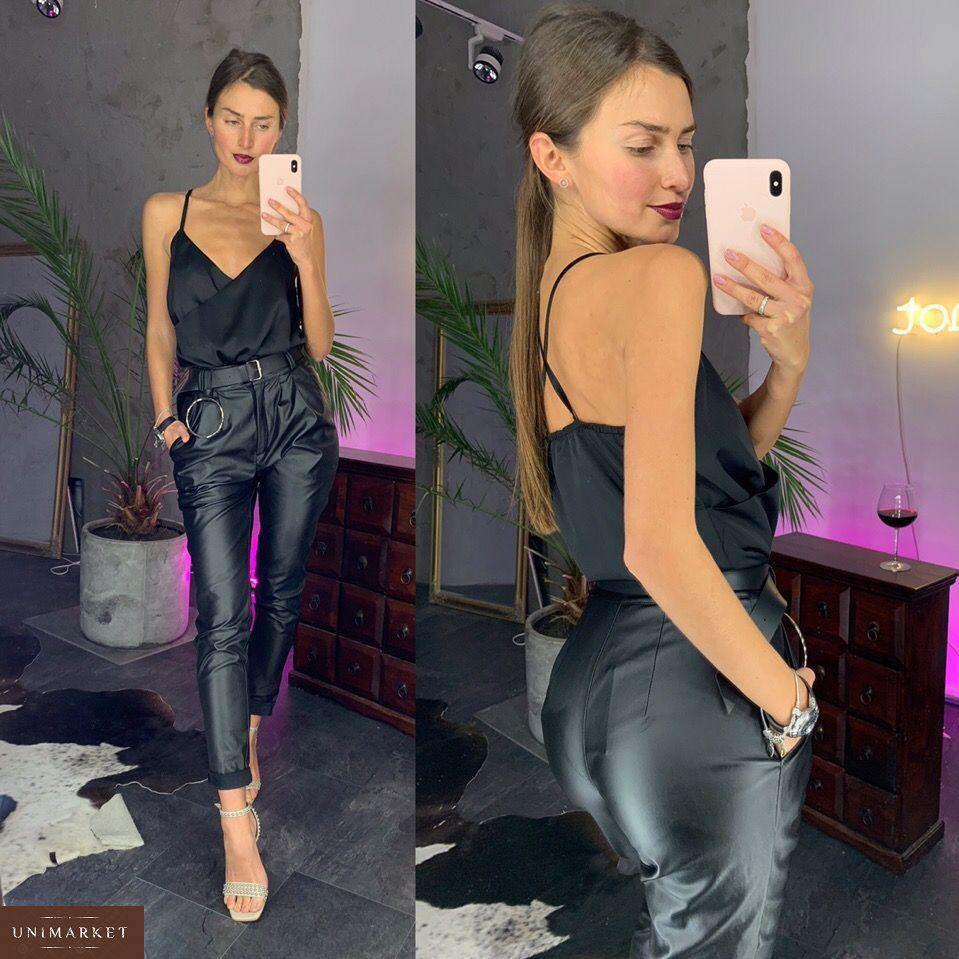 Жіночі Матові штани з екокожі купити в онлайн магазині - Unimarket 1b6b61f0d098f