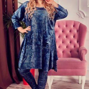 Купить женский велюровый костюм большого размера мраморного цвета дешево