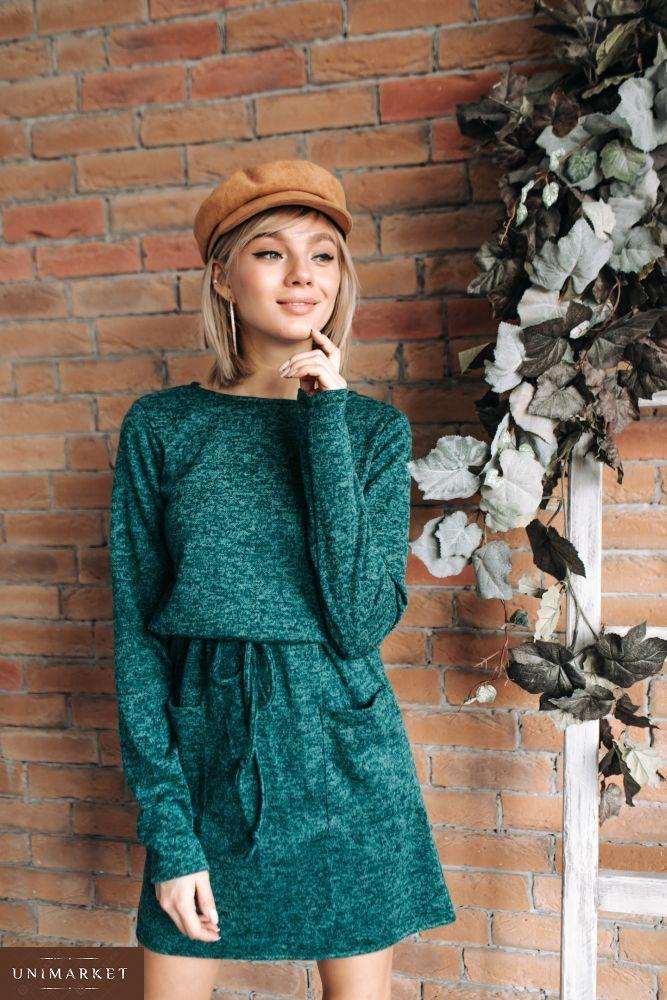 946637d495fd30 Жіноча Сукня з ангори з кишенями купити в онлайн магазині - Unimarket