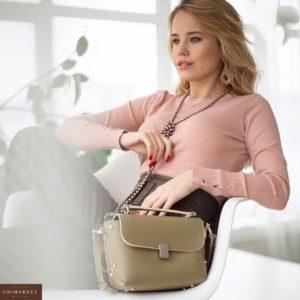 Заказать недорого женскую кофту с пуговицами на рукавах в подарок цвета пудры