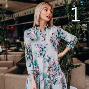Заказать недорого женское платье свободного кроя с цветочным рисунком в подарок
