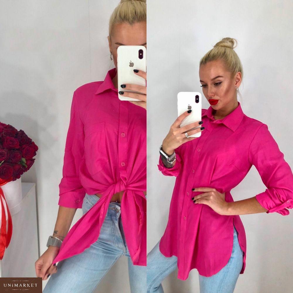 1a8b7d88ca7 Заказать недорого женскую удлиненную рубашку из штапеля розового цвета в  подарок