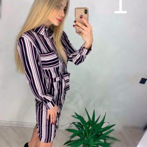Купить недорого женское из вискозы платье рубашку оптом