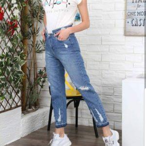 Заказать женские джинсы мом из коттона недорого в подарок