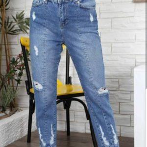 Купить недорого женские мом джинсы из коттона оптом Украина