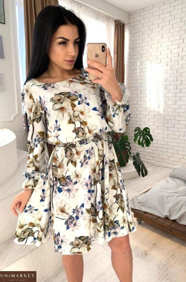 Купить женское платье из хлопка с вискозой