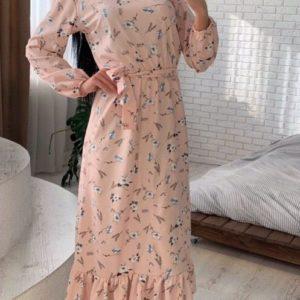 Заказать длинное летнее платье из хлопка для женщин