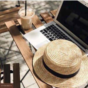 Купить в интернет-магазине женскую шляпу соломенную канотье недорого