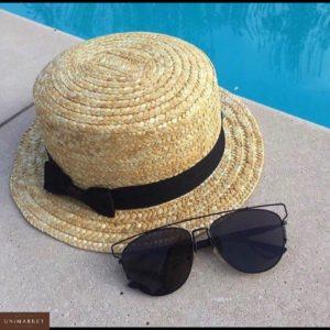 Заказать недорого женскую соломенную шляпу канотье в подарок