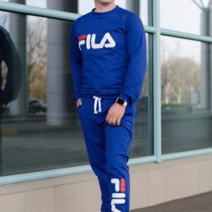 Заказать мужской костюм спортивный большого размера ФИЛА цвета электрик оптом Украина