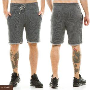 Заказать недорого мужские трикотажные шорты больших размеров темно-серого цвета в подарок