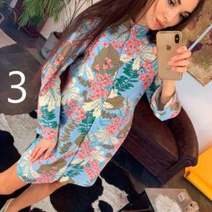 Купить в подарок женское платье с цветочным принтом из штапеля дешево