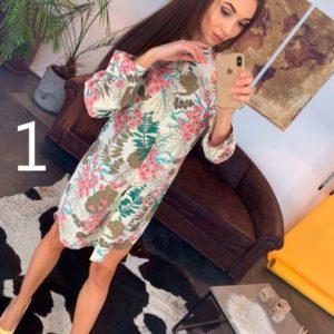 Заказать недорого женское платье из штапеля с цветочным принтом в подарок
