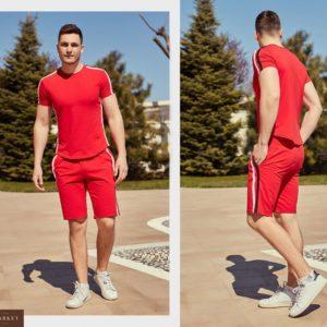 Купить в подарок мужской костюм спортивный трикотажный больших размеров красного цвета дешево