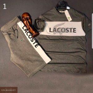 Заказать недорого мужской костюм лакоста: футболка + шорты больших размеров в подарок