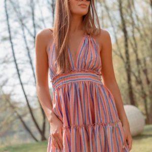 Купить дешево женское легкое платье из полированного штапеля недорого