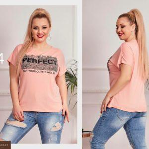 """Заказать оптом футболку женскую с принтом, большого размера рукав """"японочка"""" дешево"""