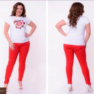 Заказать оптом летние женские джинсы красные ярких расцветок размеров больших дешево