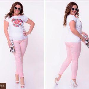 Приобрести дешево женские джинсы летние ярких расцветок размеров больших цвета пудры оптом Украина