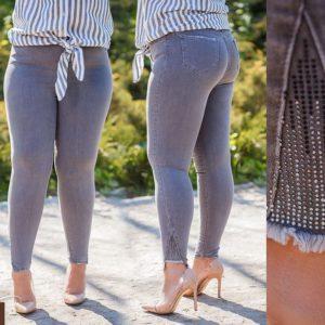 Приобрести дешево женские стрейч - джинсы оригинальный низ стильные цвета синего размеров больших оптом Украина