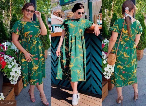 Купить в интернет-магазине стильное женское платье миди большого размера летящего покроя недорого