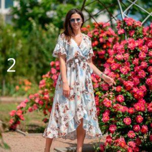 Приобрести дешево женское халат-платье с запахом из софта размера большого оптом Украина