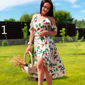 Заказать недорого женское платье летящего покроя большого размера из супер софта в подарок