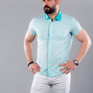Купить в интернет-магазине кетен-лен мужскую рубашку в клетку дешево